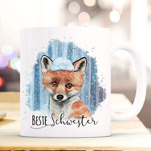 Ernährung Sanft Tasse Becher Fuchs & Spruch Beste Schwester Kaffeebecher Teepott Geschenk Ts868
