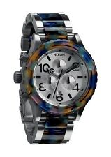 AUTHENTIC NIXON 42-20 CHRONO WATCH WATERCOLOR ACETATE A037 1116 NEW! A0371116