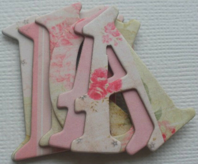 Daisy D's  *PINK LULLABY*  Chipboard Letters Alphabet
