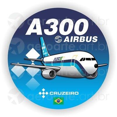 Airbus A300 aircraft round sticker