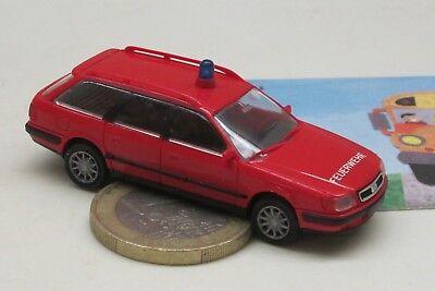 Compiacente Rietze Audi 100 Avant, Vigili Del Fuoco (859)-mostra Il Titolo Originale Una Custodia Di Plastica è Compartimentata Per Lo Stoccaggio Sicuro
