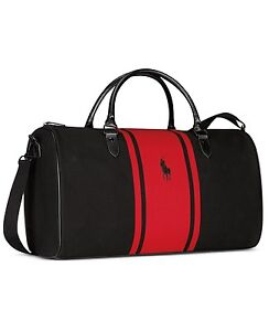 d608469b4028 RALPH LAUREN POLO BLACK AND RED DUFFLE BAG TRAVEL WEEKEND ...