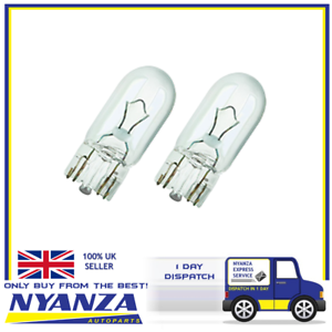 LUCAS-TWIN-PACK-BULB-LLB501-W5W-501-SIDE-LIGHT-NUMBER-PLATE-INTERIOR