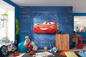 Murales Cameretta Bambini : 368x254cm carta da parati murale macchine 3 disney fotografica