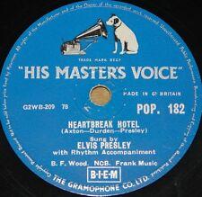 ELVIS PRESLEY ~ HEARTBREAK HOTEL b/w I WAS THE ONE HMV 78 RPM E+ EX PLUS GRADE