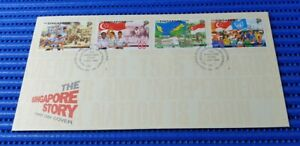 1998-Singapore-First-Day-Cover-The-Singapore-Story-Commemorative-Stamp-Issue