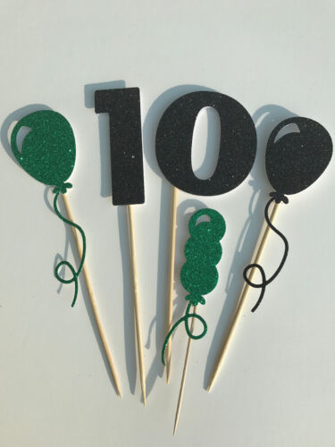 Handmade Set of large cake toppers Boys 10th birthday