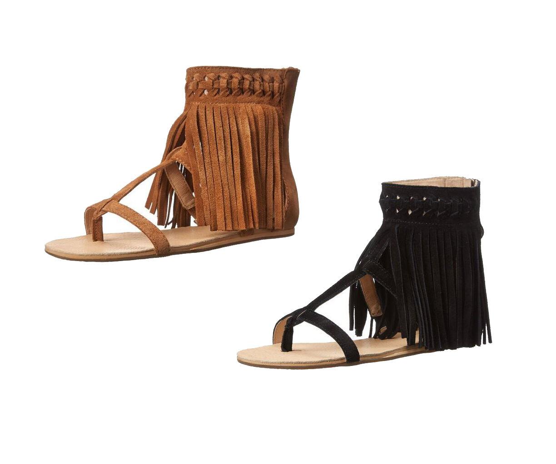 KOOLABURRA Para Mujer Athena cremallera Flecos Boho Sandalia Sandalia Sandalia Tipo Gladiador, 2 Colors  descuentos y mas