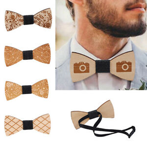 Bow-Tie-Accessory-Wedding-Party-Bamboo-Wood-Bowtie-Neck-Wear-for-Men-mens-Wooden