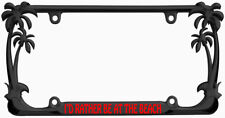 Black License Plate Frame I/'d Rather Be Playing Wreck it Ralph Auto Accessory