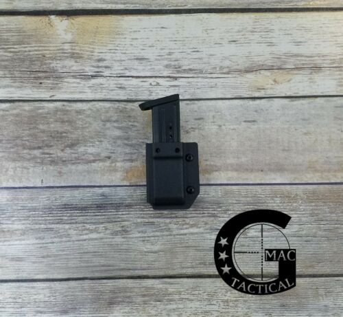 Smith/&Wesson MP 9//40 Full Size//Compact Kydex Single Magazine Pouch Black IWB//OWB
