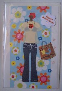 Carte Postale Neuve Relief Decor 3d Joyeux Anniversaire Femme Fille
