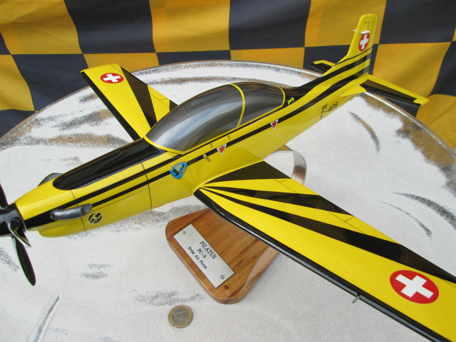Pilatus pc-9 Swiss Airforce HUGE XXL aircraft AVION yakair woodmodell