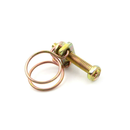 2X Double Wire Hose Clamp Pipe Clip Screw Bolt Tight Fitting Classic TypeH.dr