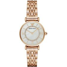 NEW EMPORIO ARMANI ROSE GOLD GIANNI T-BAR STAINLESS STEEL LADIES WATCH AR1909