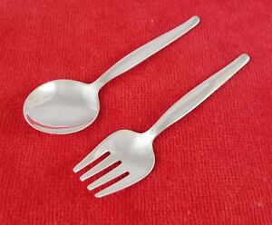 Contour-by-Towle-Sterling-Silver-2-Piece-Baby-Child-Spoon-amp-Fork-Set-No-Mono