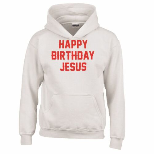 Joyeux Anniversaire Jésus Noël Slogan Imprimé Homme Enfants Sweat à Capuche Noël Pull