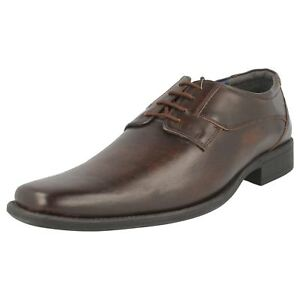 Kleidung & Accessoires Herrenschuhe r30a Bruno Donnari Nn905 Men's Brown Leather Smart Lace Up Shoes