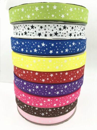 10 Yards Stars Printed Grosgrain Ribbon Hair Bow//Christmas//wedding DIY 25mm