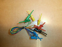 Mini Hook Grabber Ic Test Leads,set Of 5 Colors,16 Long,new