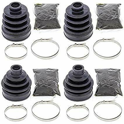 Complete Front Inner /& Outer CV Boot Repair Kit for Arctic Cat 400 FIS 4x4 w//AT