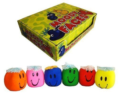 NEW FUNNY MOODY FACES STRESS BALL - CHOOSE FROM ALL DIFFERENT CouleurS