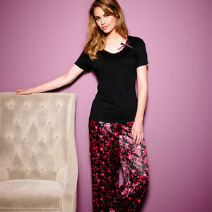 Floral-Satin-Pyjamas-Perfect-Gift-Sexy-Stylish-Design-12-14-UK-Size