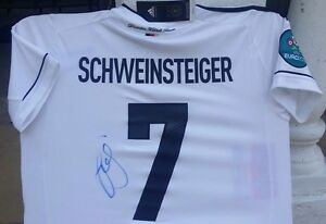 new styles 672a3 9eb2c Details about BASTIAN SCHWEINSTEIGER SIGNED GERMANY ADIDAS WORLD CUP JERSEY  SHIRT AUTO BAYERN