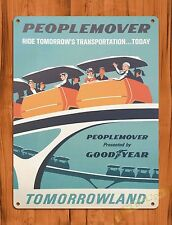TIN-UPS Tin Sign Disney's People Mover Attraction Ride Art Poster
