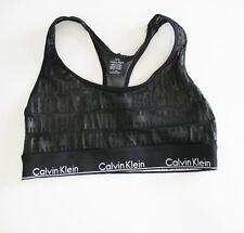 656e9bce699 Calvin Klein Sheer Bralette Censored Black Logo QF1879 Sz XL - for ...