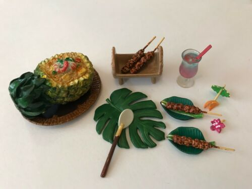 RARE Re-ment Miniature Asian Grocery Set No.7 Asia Food Pineapple Rice