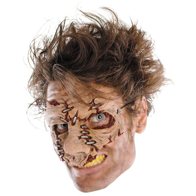 Leather Face Mask Adult Scary Horror Halloween Costume Fancy Dress