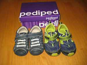 Pediped Grip `N' Go Toddler Boys Sandals Size 5.5 (size 21) & 6-6.5 (size 22)