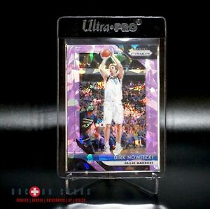 Dirk-Nowitzki-Cracked-Purple-Ice-Prizm-2-d-149-Dallas-Mavericks-Legend-RARE