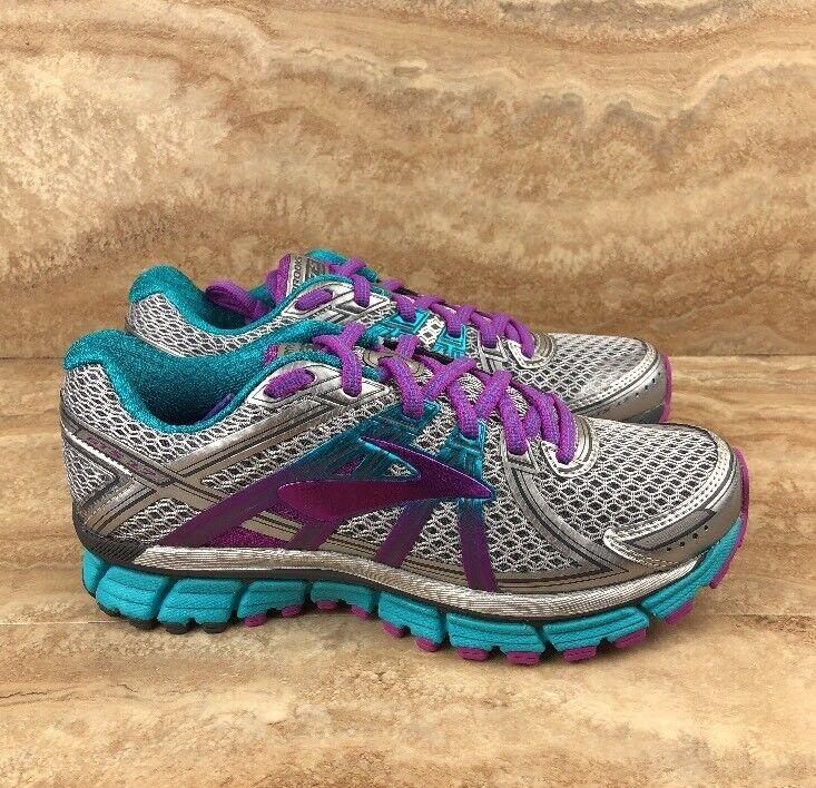 Brooks Adrenaline GTS D Wide Running shoes  Women's bluee Purple Silver