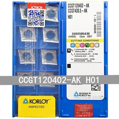 CCGT32.50.5-AK H01  Used for Aluminum Carbide inserts 10pcs  CCGT09T302-AK H01