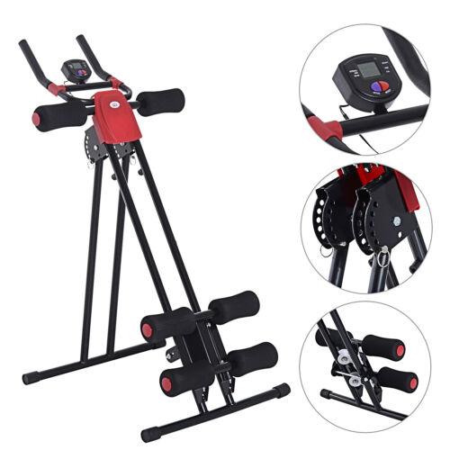 Rückentrainer Bauchtrainer Bauchmuskel Sportgerät Fitness LCD Display klappbar
