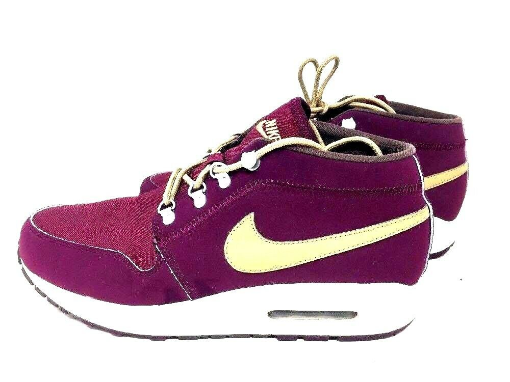 Nike Air 9.5 Mens Shoes Burgundy Gold Washington Velvet Ironman 536901-601 Q2B