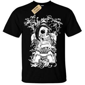 Teschio-Emo-Gotico-T-Shirt-Unisex-da-Uomo