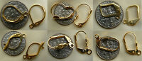 Leverback Earring Findings 24 Kt Over Copper Hypo-allergenic Affordable Gold