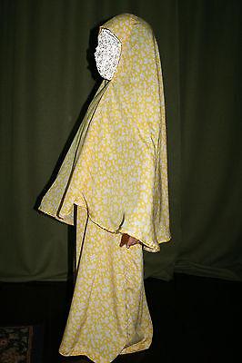 2pc crochet Lace Hejab Hegab Hijab For Abaya Muslim Girls Teens Ladies Scarf