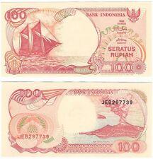 Indonesia 100 Rupiah 1999 P-127g UNC Banknote - Krakatoa Volcano - Ship