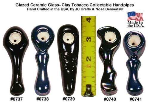 Ceramic Glass Niki Pocket Tobacco Pipes Made in USA 5-Designs+Colors U-Choose
