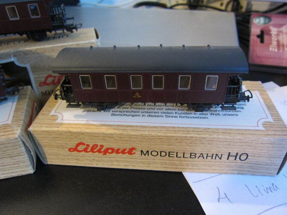 Modelbane, Liliput 3x DSB vogne, skala H0