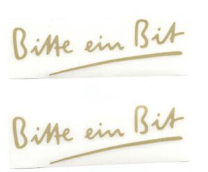 Details Zu 2 Bitburger Aufkleber Mit Goldfarbener Schrift 135 X 45 Cm Bitte Ein Bit Lo16