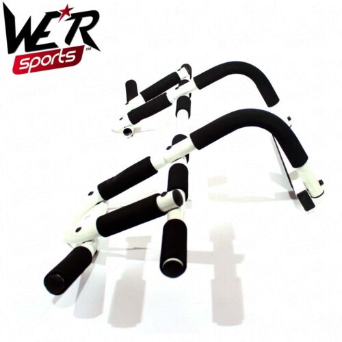Door Gym Bar Chin Ups Pull Ups Sit Up Home Fitness Exercise Iron Man Bar White