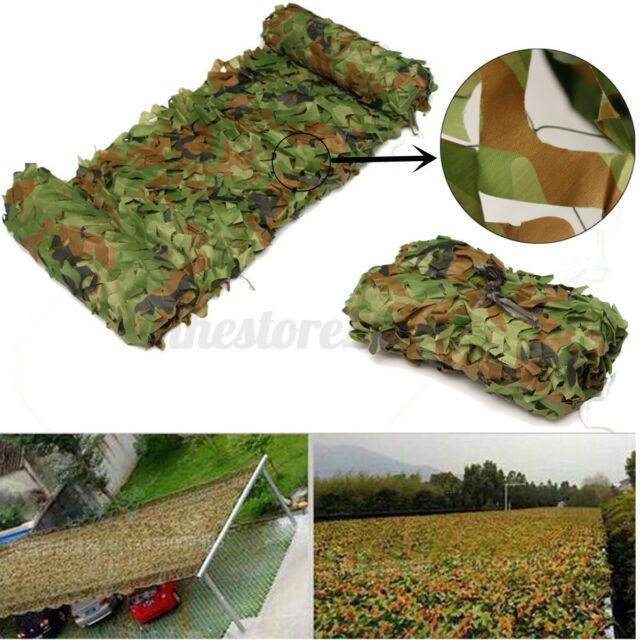 23ft Camo Netting Woodland Military Camouflage Mesh Netting for Camping Hunting