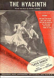 "Antiquarische Noten/songbooks Musikinstrumente Let's Dance Blatt Musik "" The Hyazinthe Cm Fred Astaire Betty Preisnachlass"