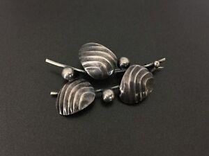 Vintage-Norway-Modernist-Sterling-Silver-Pin-Brooch