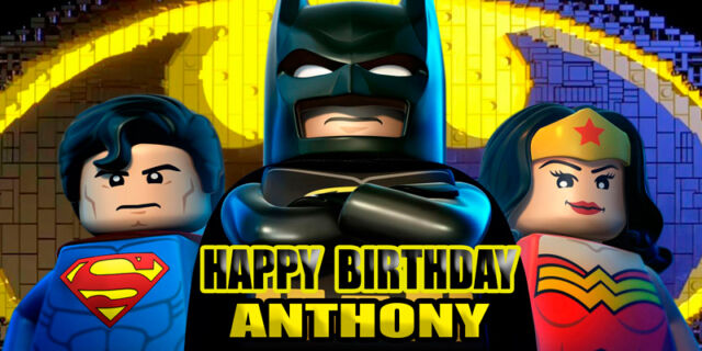 Birthday banner Personalized 4ft x 2 ft  Lego Movie